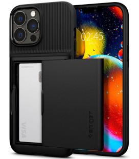 "Juodas dėklas Apple iPhone 13 Pro Max telefonui ""Spigen Slim Armor CS"""