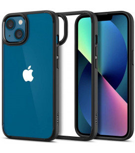 "Juodas dėklas Apple iPhone 13 telefonui ""Spigen Ultra Hybrid"""
