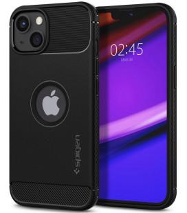 "Juodas dėklas Apple iPhone 13 telefonui ""Spigen Rugged Armor"""