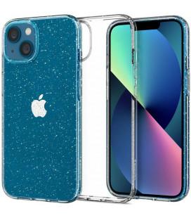 """Skaidrus dėklas su blizgučiais Apple iPhone 13 telefonui """"Spigen Liquid Crystal Glitter"""""""
