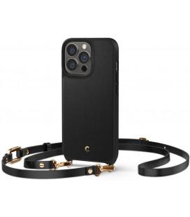 "Juodas dėklas Apple iPhone 13 Pro telefonui ""Spigen Cyril Classic Charm"""
