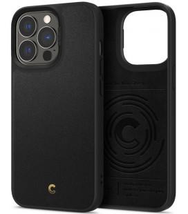 "Juodas dėklas Apple iPhone 13 Pro telefonui ""Spigen Cyrill Leather Brick"""