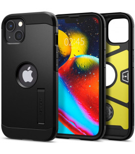 "Juodas dėklas Apple iPhone 13 telefonui ""Spigen Tough Armor"""