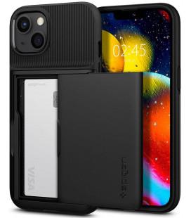 """Juodas dėklas Apple iPhone 13 telefonui """"Spigen Slim Armor CS"""""""