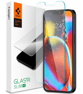 "Apsauginis grūdintas stiklas Apple iPhone 13 Mini telefonui ""Spigen Glas.TR Slim HD"""