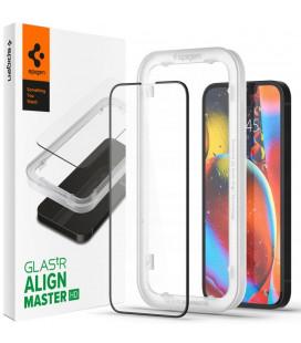 """Juodas apsauginis grūdintas stiklas Apple iPhone 13 Mini telefonui """"Spigen AlignMaster Glas tR"""""""