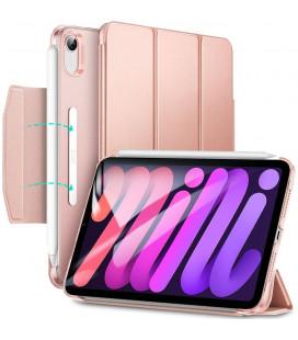 """Rausvai auksinės spalvos atverčiamas dėklas Apple iPad Mini 6 2021 planšetei """"ESR Ascend Trifold"""""""