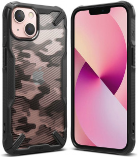 """Juodas (Camo) dėklas Apple iPhone 13 Mini telefonui """"Ringke Fusion X"""""""