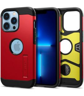 """Raudonas dėklas Apple iPhone 13 Pro telefonui """"Spigen Tough Armor"""""""
