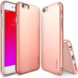"""Rausvai auksinės spalvos dėklas Apple iPhone 6/6s telefonui """"Ringke Slim"""""""