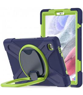"""Mėlynas/žalias dėklas Samsung Galaxy A7 Lite 8.7 T220 / T225 planšetei """"Tech-Protect X-Armor"""""""