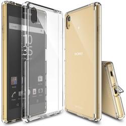 "Skaidrus dėklas Sony Xperia Z5 telefonui ""Ringke Fusion"""