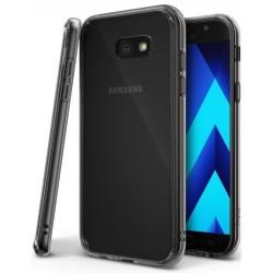 """Juodas - skaidrus dėklas Samsung Galaxy A3 2017 A320 telefonui """"Ringke Fusion"""""""