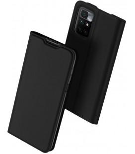"""Juodas atverčiamas dėklas Xiaomi Redmi 10 telefonui """"Dux Ducis Skin Pro"""""""