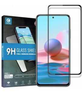 """Juodas apsauginis grūdintas stiklas Xiaomi Redmi 10 telefonui """"Mocolo TG Full Glue"""""""