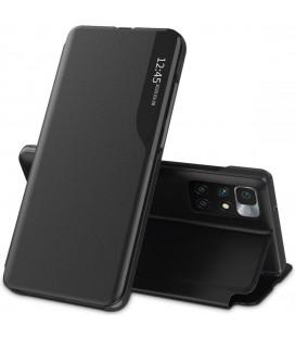 """Juodas atverčiamas dėklas Xiami Redmi 10 telefonui """"Tech-protect Smart View"""""""
