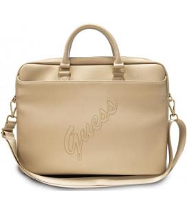 """Universalus auksinės spalvos krepšys nešiojamiems kompiuteriams 15-16"""" """"GUCB15PUSASLG Guess PU Saffiano Vintage Scrip"""""""