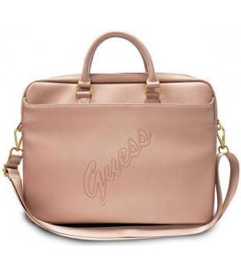 """Universalus rožinis krepšys nešiojamiems kompiuteriams 15-16"""" """"GUCB15PUSASPI Guess PU Saffiano Vintage Script"""""""