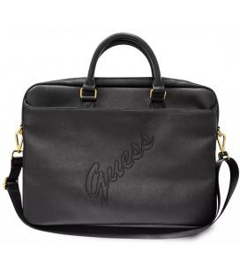"""Universalus juodas krepšys nešiojamiems kompiuteriams 15-16"""" """"GUCB15PUSASBK Guess PU Saffiano Vintage Script"""""""