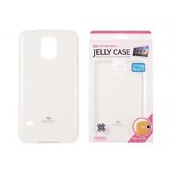 """Baltas dėklas Mercury Goospery """"Jelly Case"""" Samsung Galaxy S5 telefonui"""