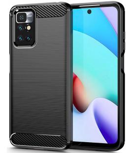 """Juodas dėklas Xiaomi Redmi 10 telefonui """"Tech-Protect TPUCarbon"""""""