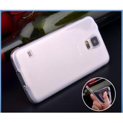 Skaidrus plonas 0,3mm silikoninis dėklas Samsung Galaxy S5 telefonui