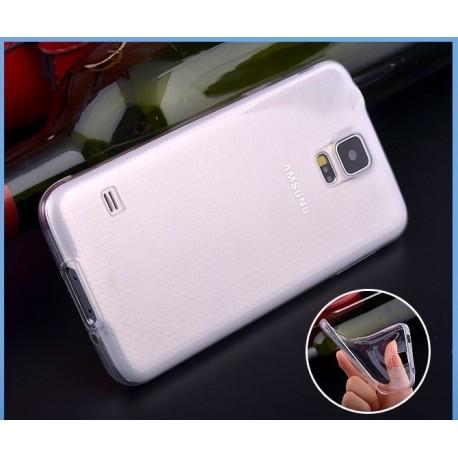 Skaidrus silikoninis dėklas Samsung Galaxy S5 telefonui