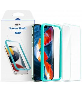 """Apsauginiai grūdinti stiklai Apple iPhone 13 / 13 Pro telefonui """"ESR Screen Shield 2-Pack"""""""