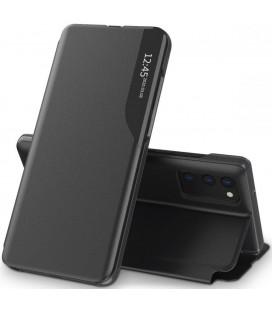 """Juodas atverčiamas dėklas Samsung Galaxy A03s telefonui """"Tech-protect Smart View"""""""