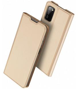 """Auksinės spalvos atverčiamas dėklas Samsung Galaxy A03s telefonui """"Dux Ducis Skin Pro"""""""