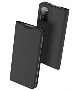 """Juodas atverčiamas dėklas Samsung Galaxy A03s telefonui """"Dux Ducis Skin Pro"""""""