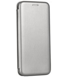 """Pilkas atverčiamas dėklas Samsung Galaxy A03s telefonui """"Book Elegance"""""""
