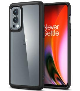 "Juodas dėklas Oneplus Nord 2 5G telefonui ""Spigen Ultra Hybrid"""