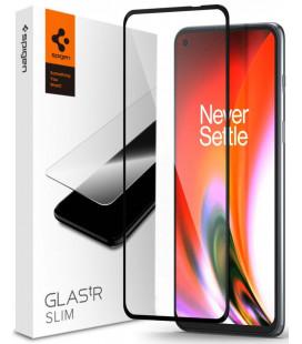 """Juodas apsauginis grūdintas stiklas Oneplus Nord 2 5G / CE 5G telefonui """"Spigen Glas.TR Slim"""""""