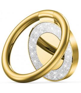"""Auksinės spalvos universalus telefono laikiklis ant piršto - žiedas """"Tech-Protect Magnetic Glitter"""""""