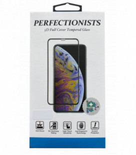 LCD apsauginis stikliukas 5D Perfectionists Apple iPhone 12 Pro Max lenktas juodas