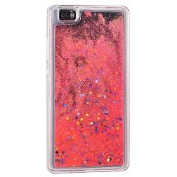 """Raudonas silikoninis dėklas su blizgučiais Samsung Galaxy A3 2017 A320 telefonui """"Water Case Stars"""""""