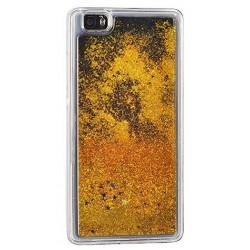 """Auksinės spalvos silikoninis dėklas su blizgučiais Samsung Galaxy A3 2017 A320 telefonui """"Water Case Stars"""""""