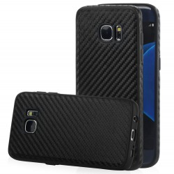 "Juodas CARBON dėklas Samsung Galaxy S7 Edge G935 telefonui ""Qult Carbon"""