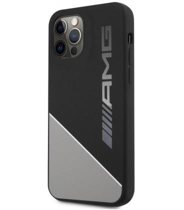 "Pilkas dėklas Apple iPhone 12 / 12 Pro telefonui ""AMHCP12MWGDBK AMG Liquid Silicone Two Tones Case"""