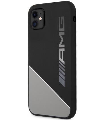 "Pilkas dėklas Apple iPhone 11 telefonui ""AMHCN61WGDBK AMG Liquid Silicone Two Tones Case"""