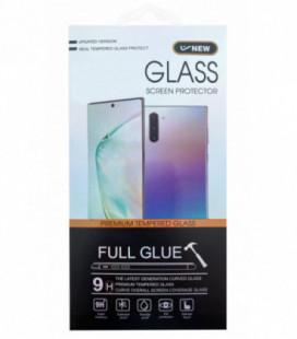 LCD apsauginis stikliukas 5D Cold Carving Samsung A415 A41 lenktas juodas