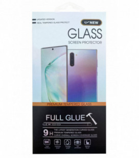 LCD apsauginis stikliukas 5D Cold Carving Samsung A426 A42 5G lenktas juodas