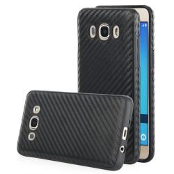 """Juodas CARBON dėklas Samsung Galaxy J5 2016 telefonui """"Qult Carbon"""""""