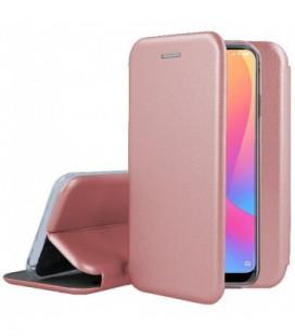 Dėklas Book Elegance Samsung G930 S7 rožinis-auksinis