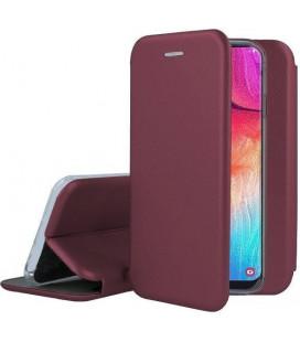 """Bordo atverčiamas dėklas Samsung Galaxy A12 telefonui """"Book Elegance"""""""