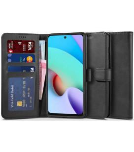 """Juodas atverčiamas dėklas Xiaomi Redmi 10 telefonui """"Tech-protect Wallet 2"""""""