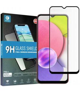 """Juodas apsauginis grūdintas stiklas Samsung Galaxy A03s telefonui """"Mocolo TG Full Glue"""""""