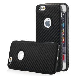 """Juodas CARBON dėklas Apple iPhone 6/6s telefonui """"Qult Carbon"""""""