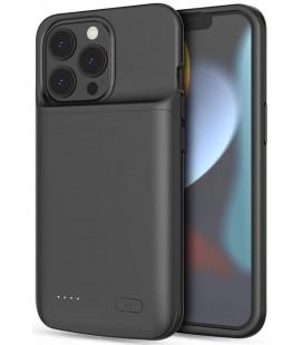 """Juodas dėklas su papildoma 4800mAh baterija Apple iPhone 12 Pro Max / 13 Pro Max telefonui """"Tech-Protect Powercase"""""""